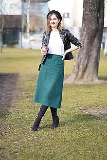 Sukne - Midi sukňa z vlnenej zmesi - 11626707_