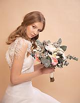 """Kytice pre nevestu - Svadobná kytica """"láskou pretvoriť"""" na ukážku - 11626434_"""