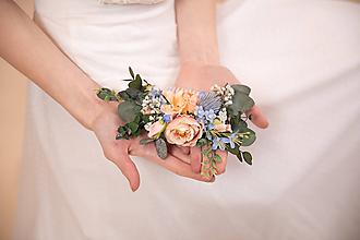"""Ozdoby do vlasov - Kvetinový hrebienok """"pastelové horizonty"""" - 11626877_"""