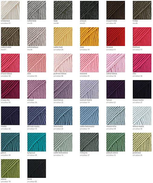 Vrecová merino čiapka šedá + 37 farieb