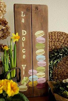 Tabuľky - La Dolce Vita - dekoračná tabuľka - 11625518_