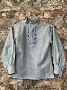 Detské oblečenie - Ľanová košieľka - 11626325_
