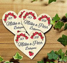 Darčeky pre svadobčanov - Svadobná magnetka - 11630881_