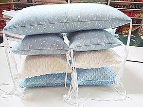 Textil - Vankúšikové mantinely s rúnom modré - 11631589_