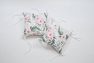 Textil - Vankúšikové mantinely s rúnom ružičkové - 11631596_