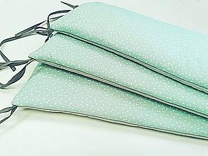 Textil - Vankúšikové mantinely mentolové vatelínové - 11631603_