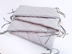 Textil - Mantinel do postieľky sivý prešívaný - 11631617_
