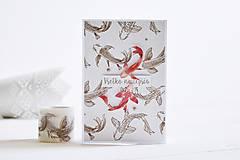 Papiernictvo - Gratulačný pozdrav - rybky - 11631806_