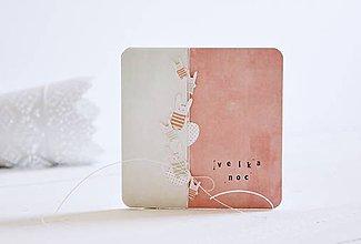 Papiernictvo - Veľkonočný pozdrav - zajačiky - 11631813_