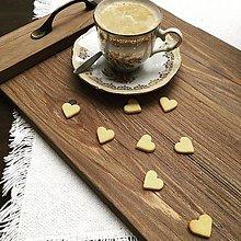 """Nádoby - Podnos zo starého dreva """" káva do postele """" - 11629904_"""