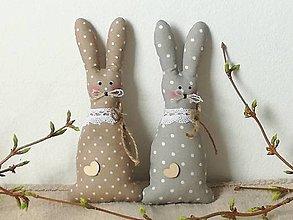 Dekorácie - Veľkonočný zajac do prírodna - 11629507_