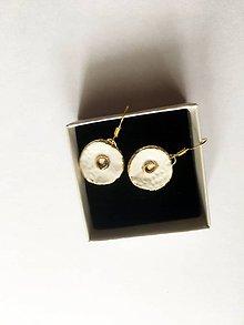 Náušnice - so zlatým krúžkom/keramika/ - 11629484_