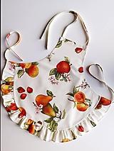 Detské oblečenie - Zásterka Ovocie - 11630994_