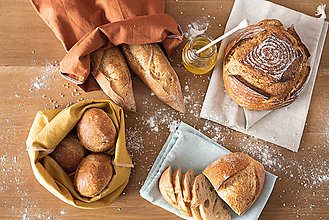 Úžitkový textil - Vrecko na chlieb - 11629728_