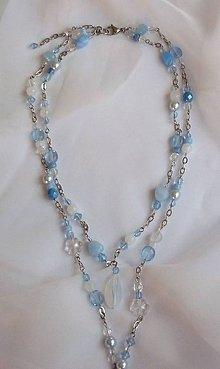 Sady šperkov - Boho Chic - nebesky modrá sada - 11631700_