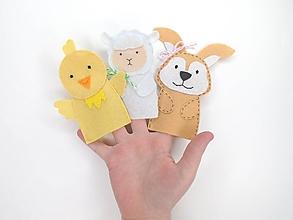 Hračky - Bábky na prsty: Veľkonočné (zvieratká) - 11630606_