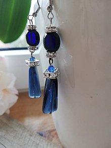 Náušnice - Modré krásky - 11631842_