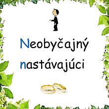 Grafika - Vtipný textík o ženíchovi zo slov začínajúcich na rovnaké písmeno - 11631421_