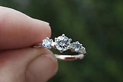 Prstene - Větvičkový s opálem a zirkony - 11628964_