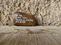 Drobnosti - Radšej oblaky - Na kameni napísané - 11631031_