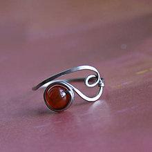 Prstene - Křídlovkový s karneolem - 11630724_