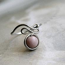 Prstene - Překládaný prsten s rodonitem - 11630751_
