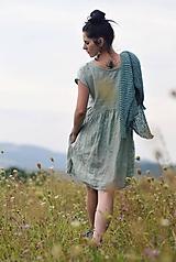 Šaty - Světle zelené šaty lněné - 11631466_