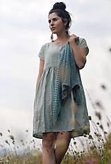 Šaty - Světle zelené šaty lněné - 11631467_