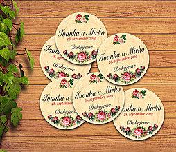 Darčeky pre svadobčanov - Svadobná magnetka - 11633062_