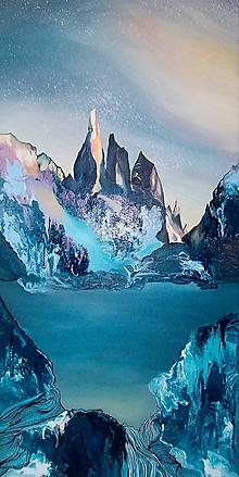 Obrazy - Cerro Torre - maľba na plátne - 11634104_