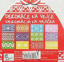 Pomôcky/Nástroje - Zmršťovacie košieľky na vajíčka, 12 ks  (folklórne pestrofarebné) - 11632955_