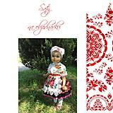 """Detské oblečenie - FLORAL FOLK """" Slovenská ornamentika """" detský folklórny kroj na želanie - 11632629_"""