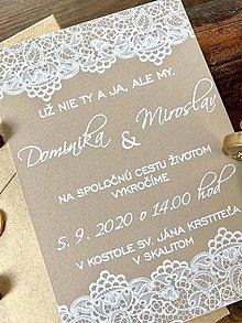 Papiernictvo - Krajkované svadobné oznámenia - 11632966_
