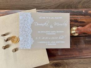 Papiernictvo - Krajkované svadobné oznámenia - 11632972_