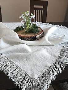 Úžitkový textil - Ľanový obrus Simplicity - 11632788_