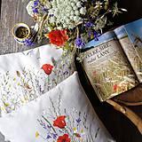 Úžitkový textil - Vankúše s makmi - 11632958_