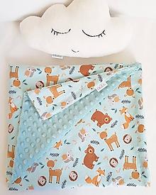 Textil - detská deka lesné zvieratká - 11631872_