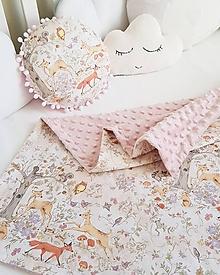 Textil - detská deka lesné zvieratká/Staroruzova minky - 11631903_