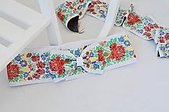 Opasky - Folklórny opasok s mašľou - 11633523_