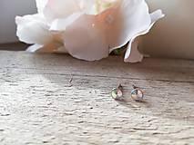 Náušnice - Swarovski rivoli crystal AB maličké - 11631851_