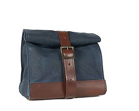 Iné tašky - Modrý lunchbox. Taška na jedlo. (s ramenným popruhom) - 11632508_