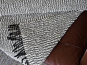 Úžitkový textil - RUČNĚ TKANÝ KOBEREC - PODSEDÁK - PREHOZ 2 - 11634148_