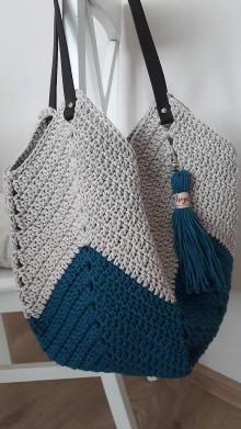 """Nákupné tašky - Háčkovaná veľká taška""""Tulip"""" - 11633849_"""