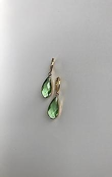 Náušnice - Zelené slzy - 11633208_
