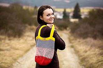 Nákupné tašky - sieťovka pastelová - 11633115_