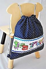 Detské tašky - Detský batoh/vak/ruksak výšivka PRÍŠERKY A MENO - 11633265_
