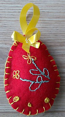 Dekorácie - Veľkonočné vajíčko - 11634829_