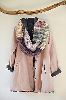 Kabáty - Lněný oboustranný kabátek - 11634641_