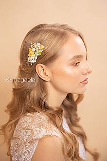 """Ozdoby do vlasov - Mini hrebienok """"veľa slnka"""" - výpredaj z 12€ - 11636806_"""