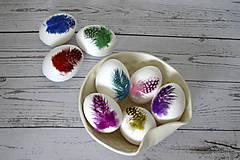 Dekorácie - Kraslica Veselá perlička (Zelená) - 11636571_